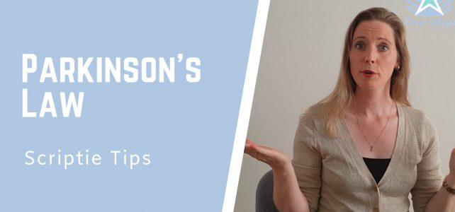 Parkinson's Law – Hoe meer tijd je hebt, hoe meer tijd je nodig hebt!